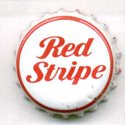 Bottle CAP RED STRIPE LAGER BEER used CROWN Kingston JAMAICA